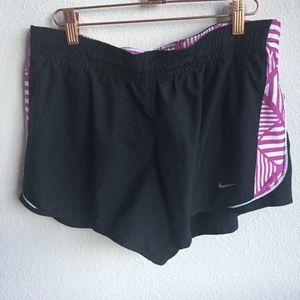 Nike Running | Black & Purple Active Shorts | L